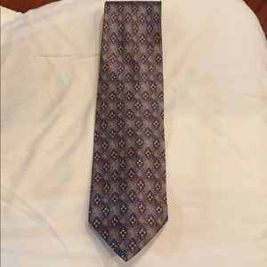 Valentino tie. Worn once. Grey/blue/yellow.